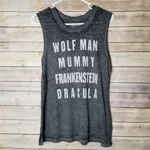 🆕 Universal studios monsters M gray muscle tank